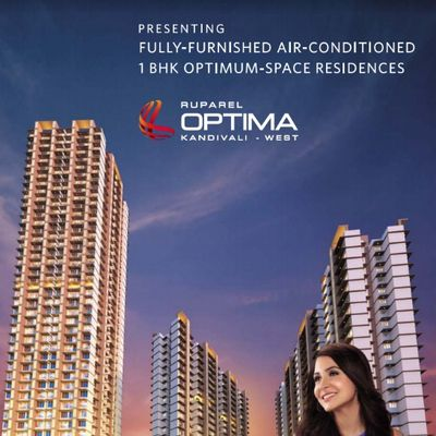Ruparel Optima 1BHK Apartments New Launch Kandivali West Mumbai, Ekta Nagar Link road.