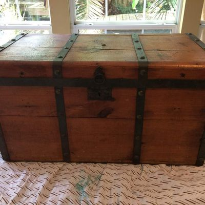 Before and After Vintage Chest