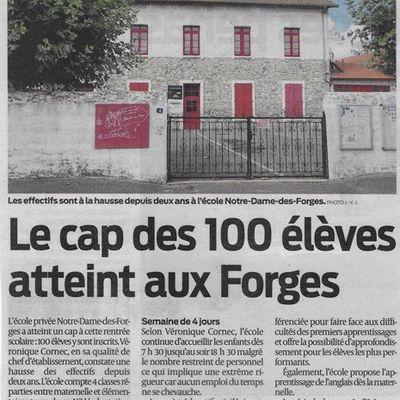 L'école Notre Dame des Forges.