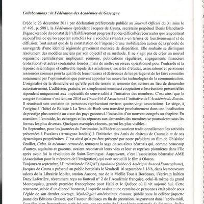 Fédération des Académies de Gascogne