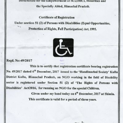 Step by step - Handimachal Society now registered under PWD Act