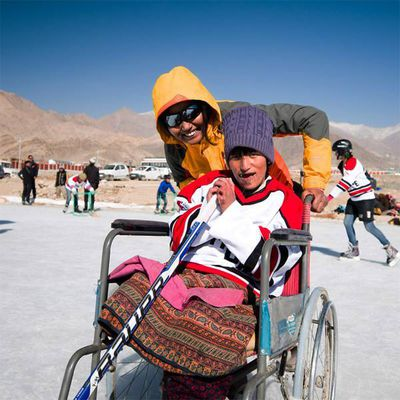 January 2018 - Ability camp on the second highest ice rink in the world (Leh, Ladakh)
