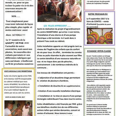 Informations Fms (août 2017)