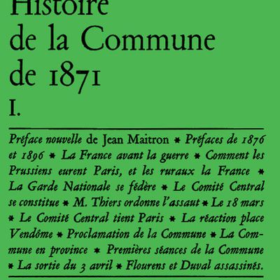 Histoire de la Commune - Lissagaray