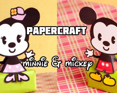 PAPERTOYS: Mickey et Minnie