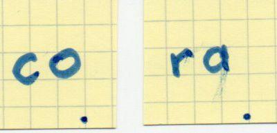 Premières syllabes : CO RA (série de fiches 2.0)