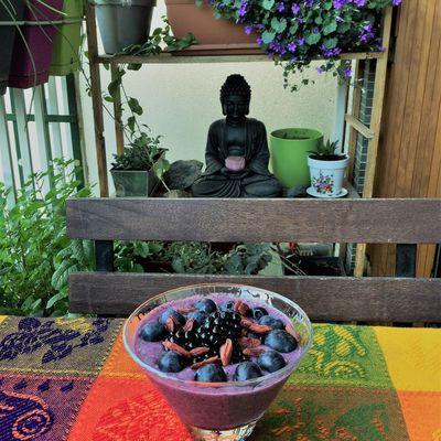 """""""offrande à Bouddha"""", le pudding amethyste"""