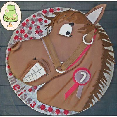 """Gâteau """"cheval"""" pour une petite cavalière !"""