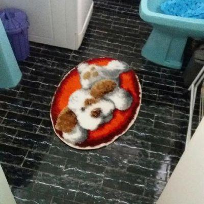 Tapis pour salle de bain.