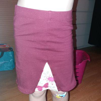 Transformation leggins en jupe