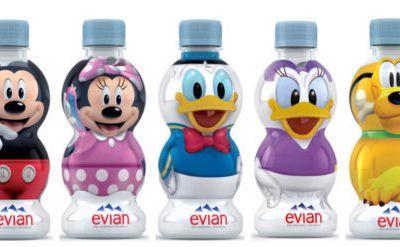 Disney 3 bouteilles Evian 33 cl