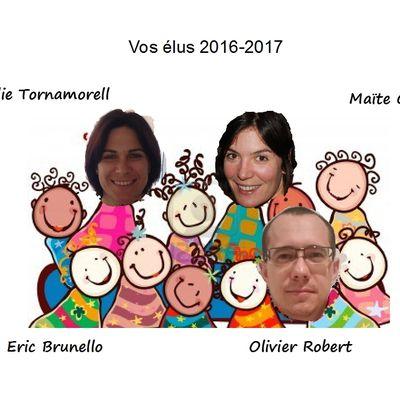 Les élus de l'école maternelle 2016-2017