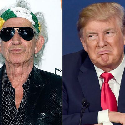 The Rolling Stones' Keith Richards Was Once So Angry at Donald Trump That He Stabbed a Table