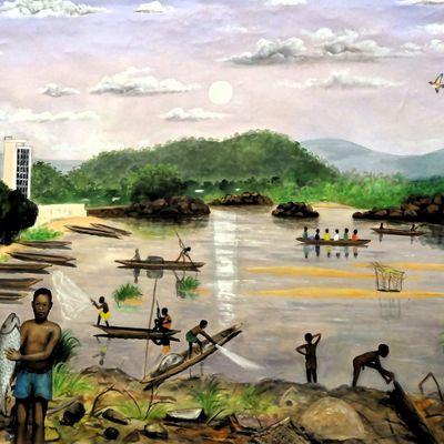 Bangui - peinture de Michel OUABANGA