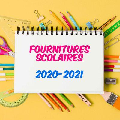 Les listes des fournitures maternelles et primaire 2020