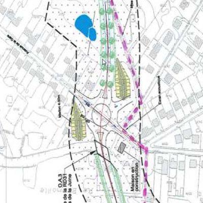 En 2008  le chemin de la longue raie débouche sur l'avenue de la gare, en 2018  c'est sur le rond point ?