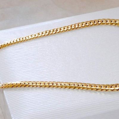 TRES BEAU VOLUME / COLLIER MAILLE ANGLAISE / OR JAUNE 18 K ( 750/1000 ) / 25,65 gr    REF / AB 918
