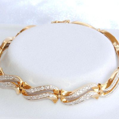 Bracelet de toute beauté OR 2 tons 18 K ( 750 ) - DIAMANTS 1 ct     REF / AA 979