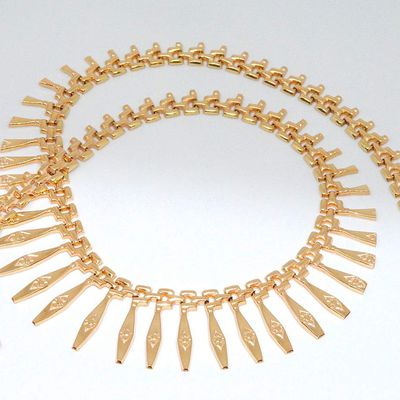 Magnifique *Rare Collier Draperie Or jaune 18 K ( 750/1000 ) - 25,25 gr * Or 18 carats    REF / AA 1052