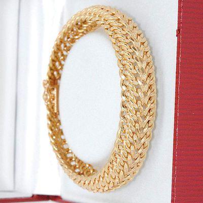 Beau Bracelet / Gourmette Maille semi rigide Or Jaune 18K * 24,11 gr * Or 18 carats * 750/1000   REF / AA 1056