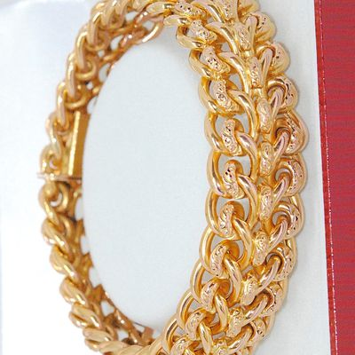 Bracelet / Gourmette Maille semi rigide Or Jaune 18K * 28,30 gr * Or 18 carats * 750/1000   REF / AA 1058