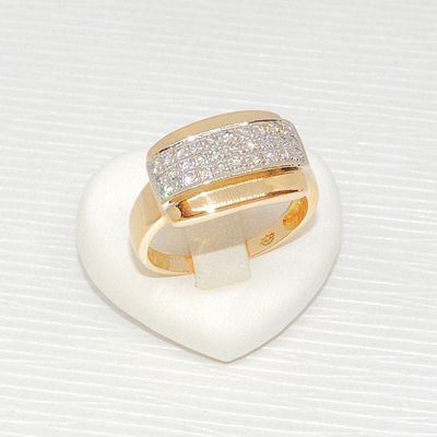 Bague / Joaillerie / Diamants / femme / Or 2 tons 18k / Or 18 carats * 750/1000   REF / AA 1061