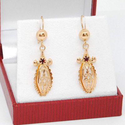 Boucles d'oreilles Joaillerie / pendantes / Or Jaune 18K / Or 750/1000 / Or 18 carats    REF / AB 952