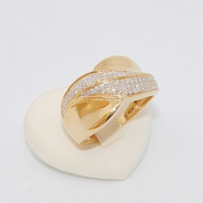 Bague / Diamants / Joaillerie / Femme / Or 2 tons 18k / Or 18 carats / 750/1000   REF / AB 955