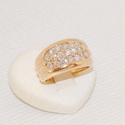 Bague Jonc / Joaillerie / Diamants / femme / Or 18k / Or 18 carats * 750/1000   REF / AB 963