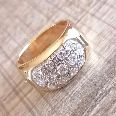 Somptueuse Bague Or bicolore 18 K * Diamants 0,82 ct * 7,87 gr * Or 18 carats - 750/1000   REF / AA 1054