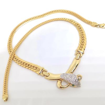 Collier Joaillerie serpent / Or 18k / 30,09 gr / femme or 18 carats / 750/1000   REF / AA 1074