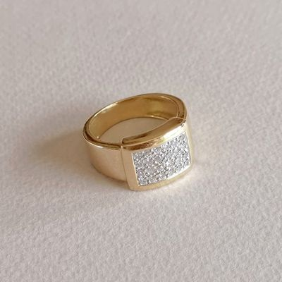 Bague / Diamants / Joaillerie / Femme / Or 2 tons 18k / Or 18 carats / 750/1000    REF / AB 962
