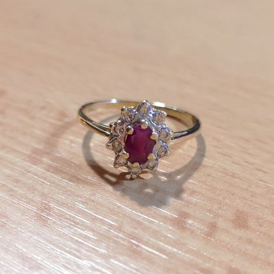 Bague Diamants / Rubis / Or 2 tons 18k / Femme joaillerie 750 /1000 / Or 18 carats   REF / AB 968