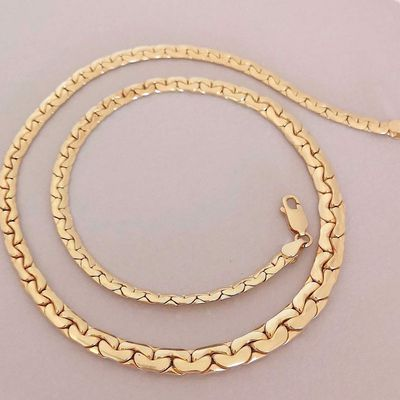NEUF / Collier maille haricot / Or jaune 18 K / Joaillerie 750 / Or 18 carats   REF / AA 1100