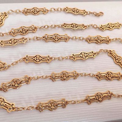 Rare / Collier ancien / Joaillerie Or jaune 18k / 750/1000 / Or 18 carats   REF / AB 977