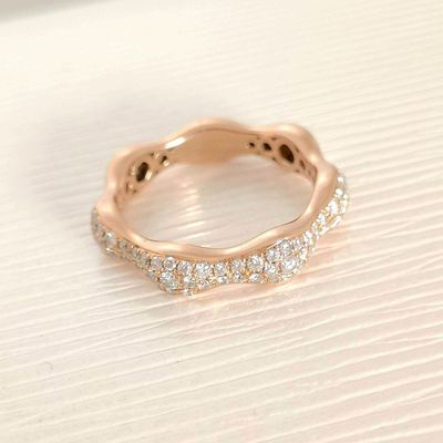 Bague / Diamants 0,50 ct / Or Rose 18K / Joaillerie femme 750/1000 / Or 18 carats   REF / AA 1111