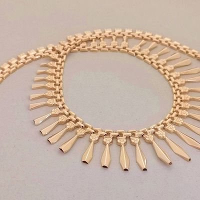 Collier Draperie / 28 gr / Or jaune 18k / Joaillerie or 18 carats / 750     REF / AA 1115