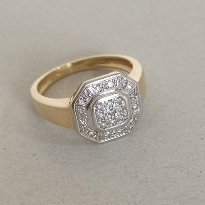 Bague Diamants / Joaillerie Or 2 tons 18 k / Or 18 carats / 750  REF / AA 1116