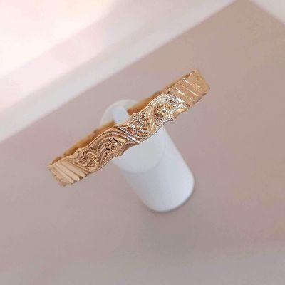 Bracelet Massif / Jonc ciselé / 24,20 gr / Or Jaune 18k / 750/1000 / 18 carats   REF / AA 1129