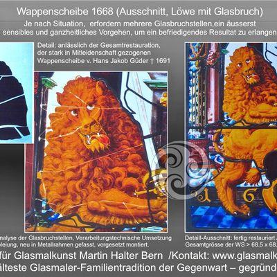 Restaurierung Glasmalerei - wichtige Erkenntnisse an vorderster Front Atelier HALTER Bern