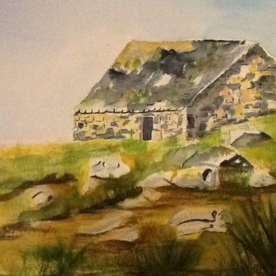 Île de Batz à l'aquarelle