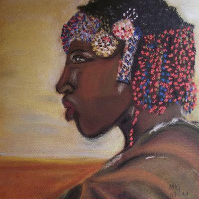Portrait au pastel sec