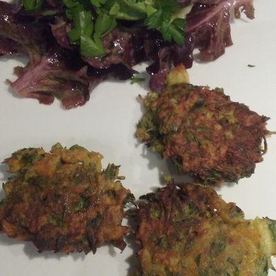 Les beignets de fanes de carottes