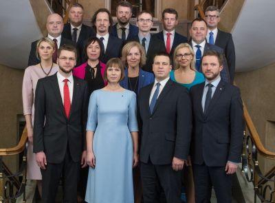 Prise de fonction du nouveau Gouvernement d'Estonie dirigé par Jüri Ratas