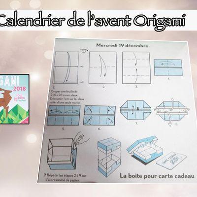 Calendrier de l'avent spécial origami : 19 décembre