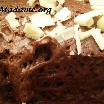 Mousse au chocolat sans oeufs (à l'eau de pois chiches)