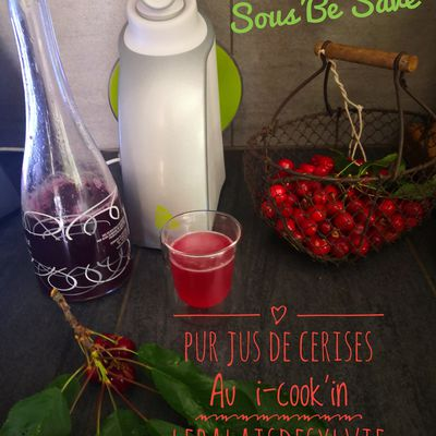 Pur jus de Cerise au robot connecté i-cook'in