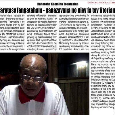 Toamasina. Elisée Ratsiraka: Fangatahana fanazavana fa tsy fitoriana azy no nisy