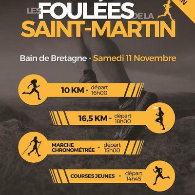 Foulées de la St-Martin à Bain de Bretagne 11 novembre 2017