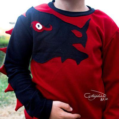 Tuto Tee-shirt Dino Dragon